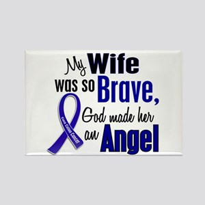 Angel 1 WIFE Colon Cancer Rectangle Magnet