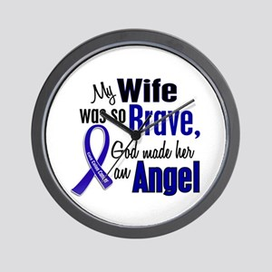 Angel 1 WIFE Colon Cancer Wall Clock