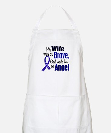 Angel 1 WIFE Colon Cancer BBQ Apron