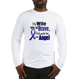 Colon cancer wife Long Sleeve T-shirts