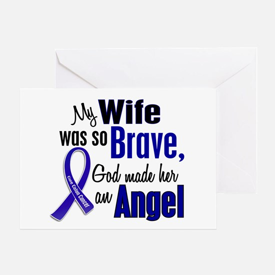 Angel 1 WIFE Colon Cancer Greeting Card