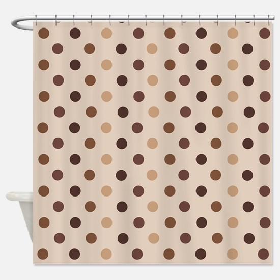 Cafe Polka Dot Shower Curtain