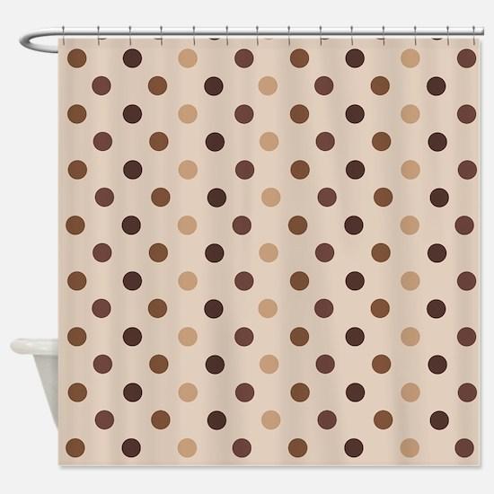 Cafe Polka Dot Shower Curtain