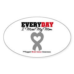Brain Cancer Mom Oval Sticker (10 pk)