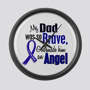Angel 1 DAD Colon Cancer Large Wall Clock