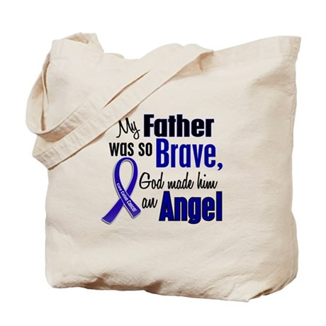 Angel 1 FATHER Colon Cancer Tote Bag