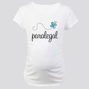 Butterfly Paralegal Maternity T-Shirt