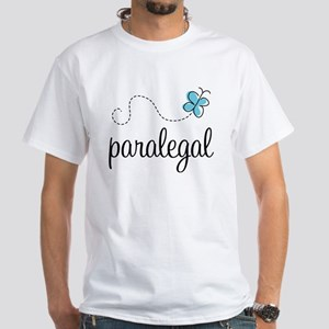 Butterfly Paralegal White T-Shirt