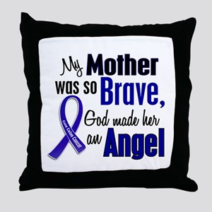 Angel 1 MOTHER Colon Cancer Throw Pillow