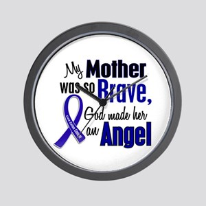Angel 1 MOTHER Colon Cancer Wall Clock