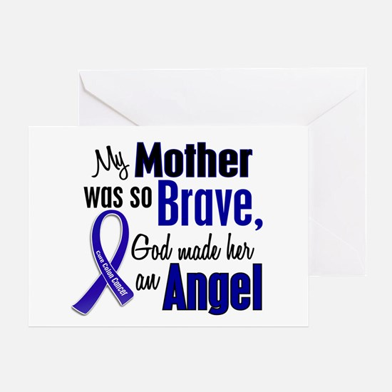 Angel 1 MOTHER Colon Cancer Greeting Card