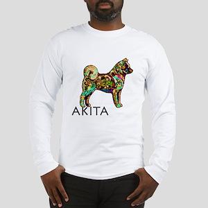 Glow Bright Akita Long Sleeve T-Shirt