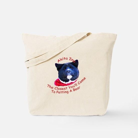 Petting a Bear Tote Bag