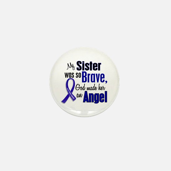 Angel 1 SISTER Colon Cancer Mini Button