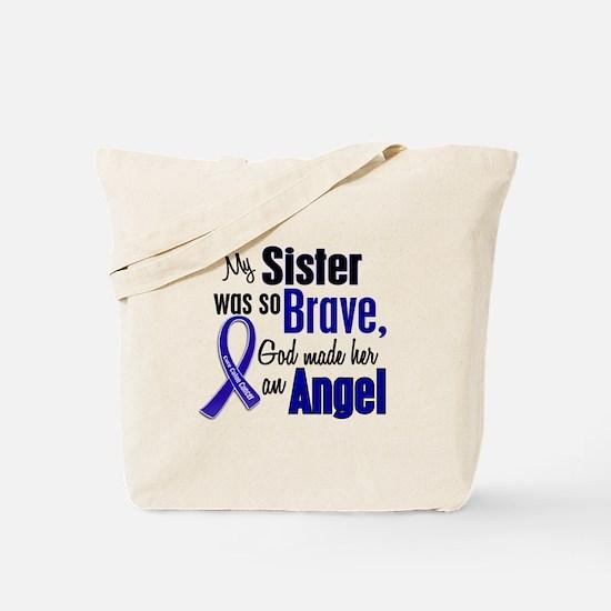 Angel 1 SISTER Colon Cancer Tote Bag
