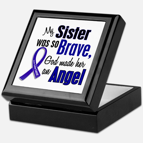 Angel 1 SISTER Colon Cancer Keepsake Box