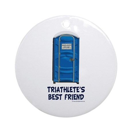 Triathlete's Best Friend Ornament (Round)