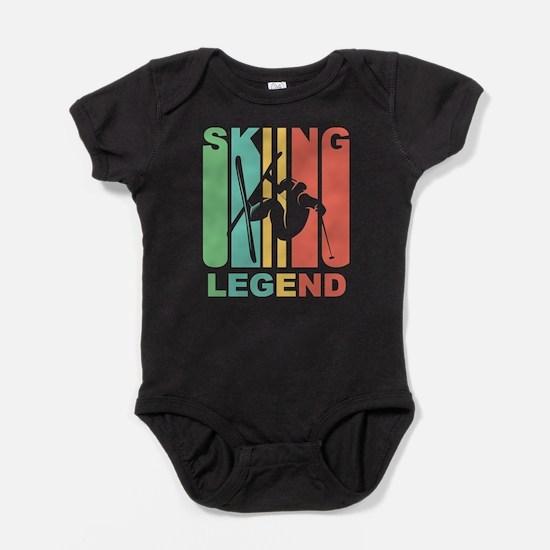 Vintage Skiing Legend Graphic T Shirt Body Suit