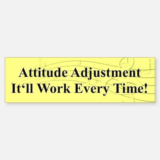 """""""Attitude Adjustment"""" Bumper Bumper Bumper Sticker"""