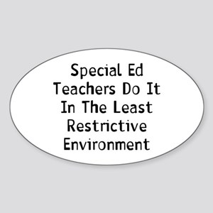 Special Teachers Sticker (Oval)