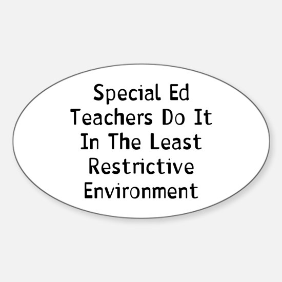 Special Ed Sticker (Oval)