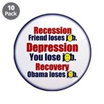 """Recovery 3.5"""" Button (10 pack)"""