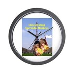 French Cheese Eating Surrender Monkeys Wall Clock