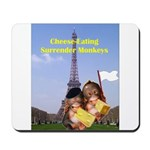 French Cheese Eating Surrender Monkeys Mousepad