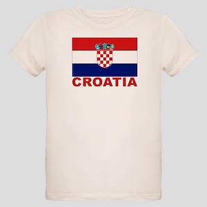 Croatia Flag Organic Kids T-Shirt