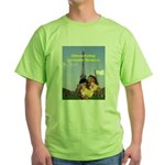 French Cheese Eating Surrender Monkeys Green T-Shi