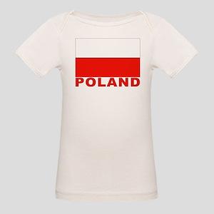 Poland Flag Organic Baby T-Shirt