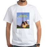 French Cheese Eating Surrender Monkeys White T-Shi
