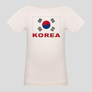 South Korea Flag Organic Baby T-Shirt