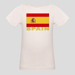 Spain Flag Organic Baby T-Shirt