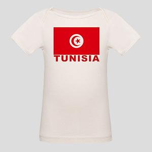 Tunisia Flag Organic Baby T-Shirt