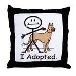 BusyBodies Great Dane (fawn) Throw Pillow