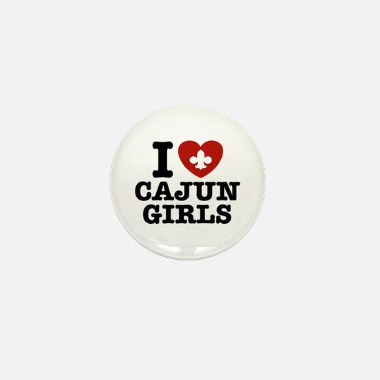 I Love Cajun Girls Mini Button
