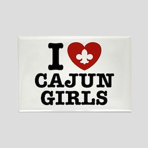 I Love Cajun Girls Rectangle Magnet