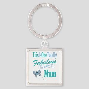 Fabulous Mum Square Keychain