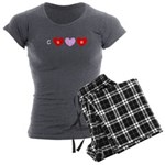 Cure Breast Cancer Red Pink Hearts 47 Women's Char