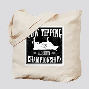 Cow Tipping Championships Tote Bag