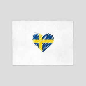 I Love Sweden 5'x7'Area Rug