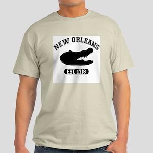 New Orleans, Est. 1718 Gator Ash Grey T-Shirt