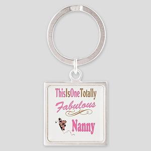 Fabulous Nanny Square Keychain