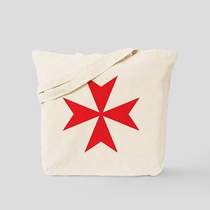 Red Maltese Cross Tote Bag