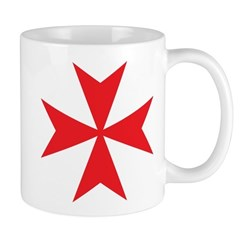 Red Maltese Cross Mug