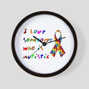 Love Autistic Kids Wall Clock