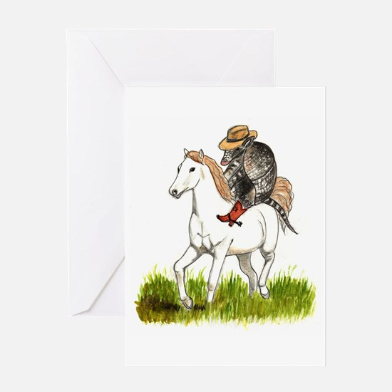 Cowboy Armadillo Greeting Card