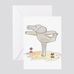 Elephant in Dancer's Pose Greeting Card