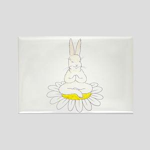 Buddha Bunny Rectangle Magnet